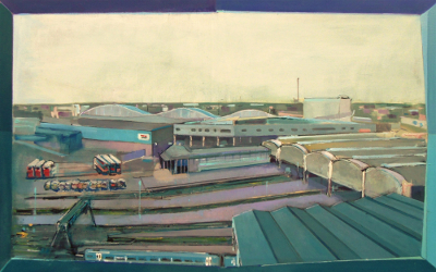 Paragon Railway Station, painting by Cliff Forshaw